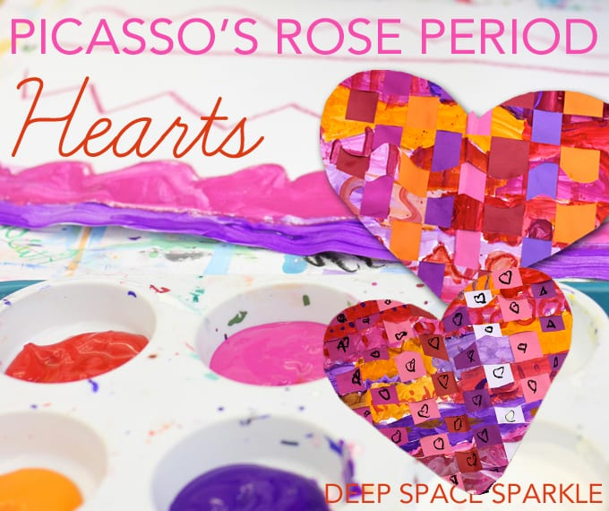 Picasso's Rose-Period Woven Hearts