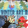 Three Winter Art lesson for ages 5-8 that focuses on easy art techniques, drawing instructions and literature.