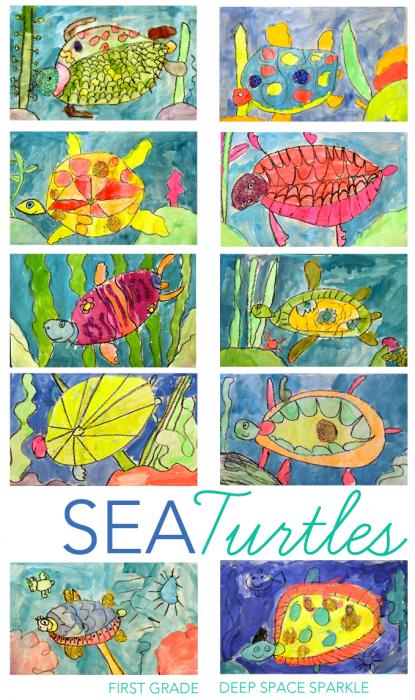 sea turtles art lesson gallery kids art