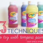 3 techniques you should try with your next tempera paint project