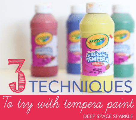 3 Techniques to Try with Tempera Paint