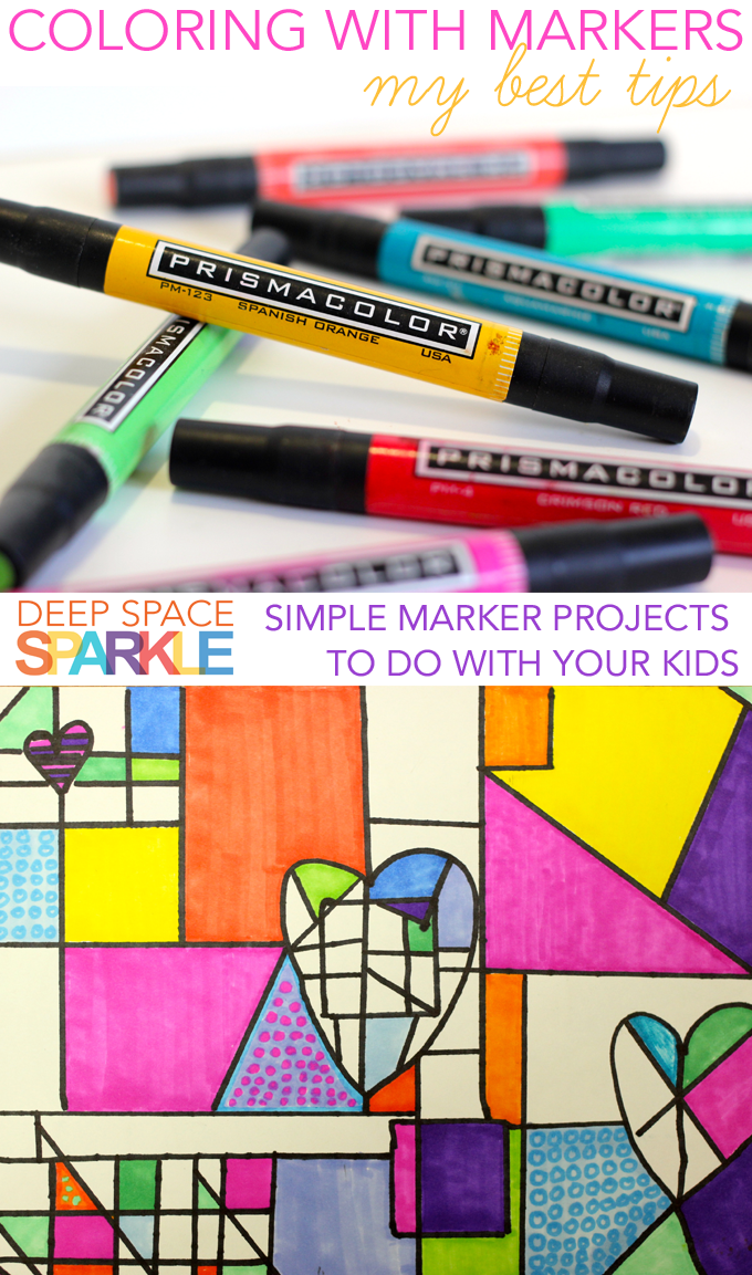 My best marker tips for the art room including the paper I use and how to get kids to color thoroughly.