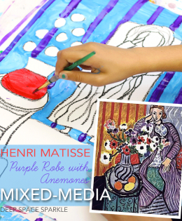 Henri Matisse Purple Robe Mixed-Media