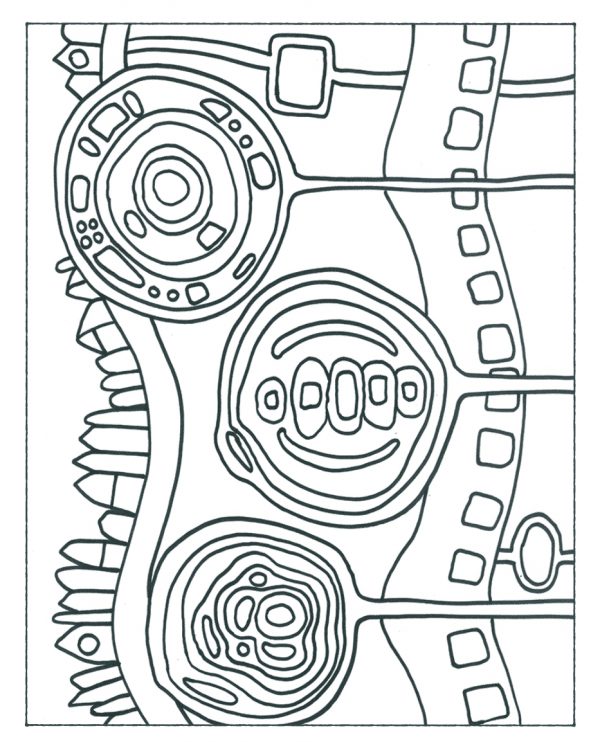 Free Hundertwasser Handouts from Deep Space Sparkle