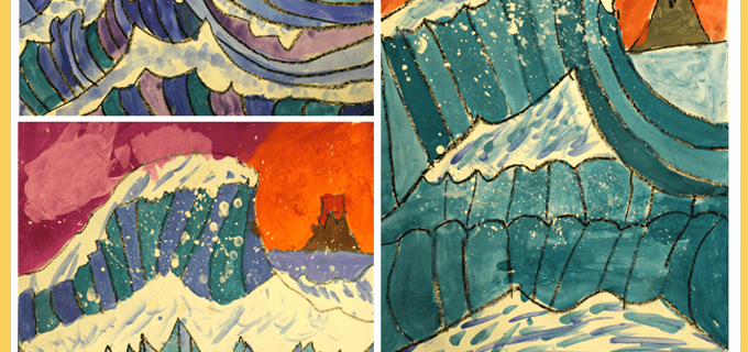 The Great Wave Art Lesson Plan & Video