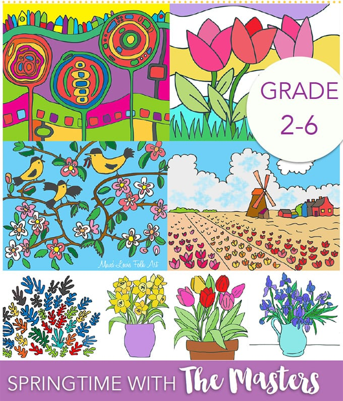 Springtime with the Masters Art Lesson Packet