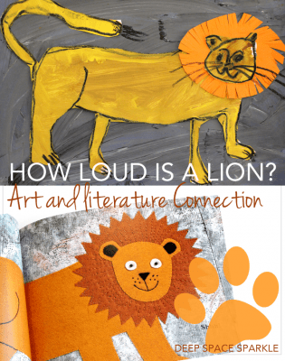 How to Draw a Lion: Collage Art Project