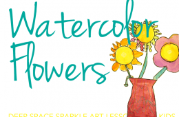 How to Draw & Paint a Bouquet of Flowers