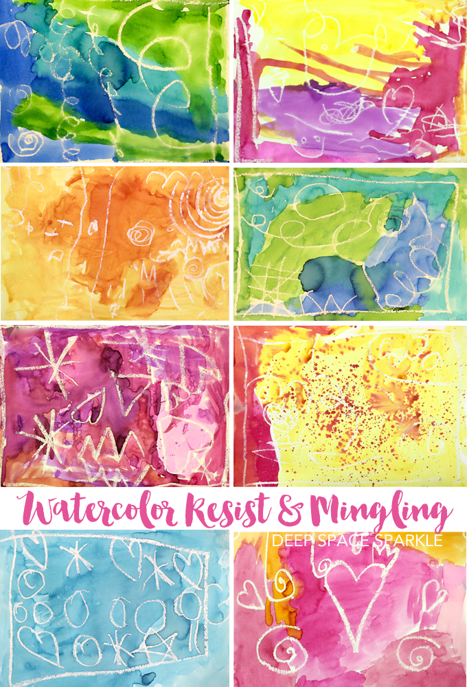 An easy watercolor resist lesson that is essential and fun for the early art years. Watercolor resist art project for kids.