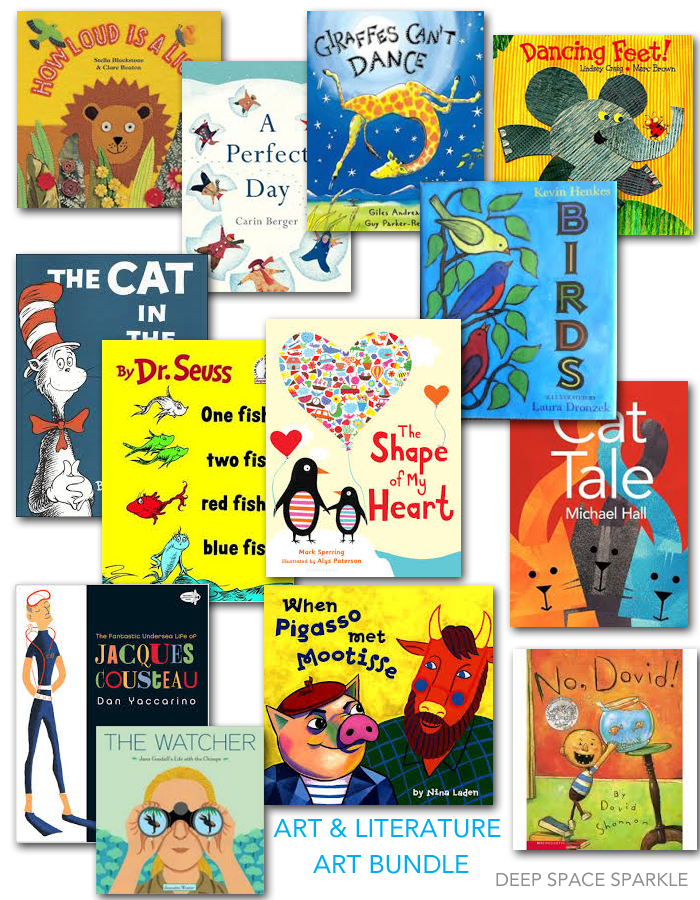 Bundled Art & Literature Art Projects based on popular children's books