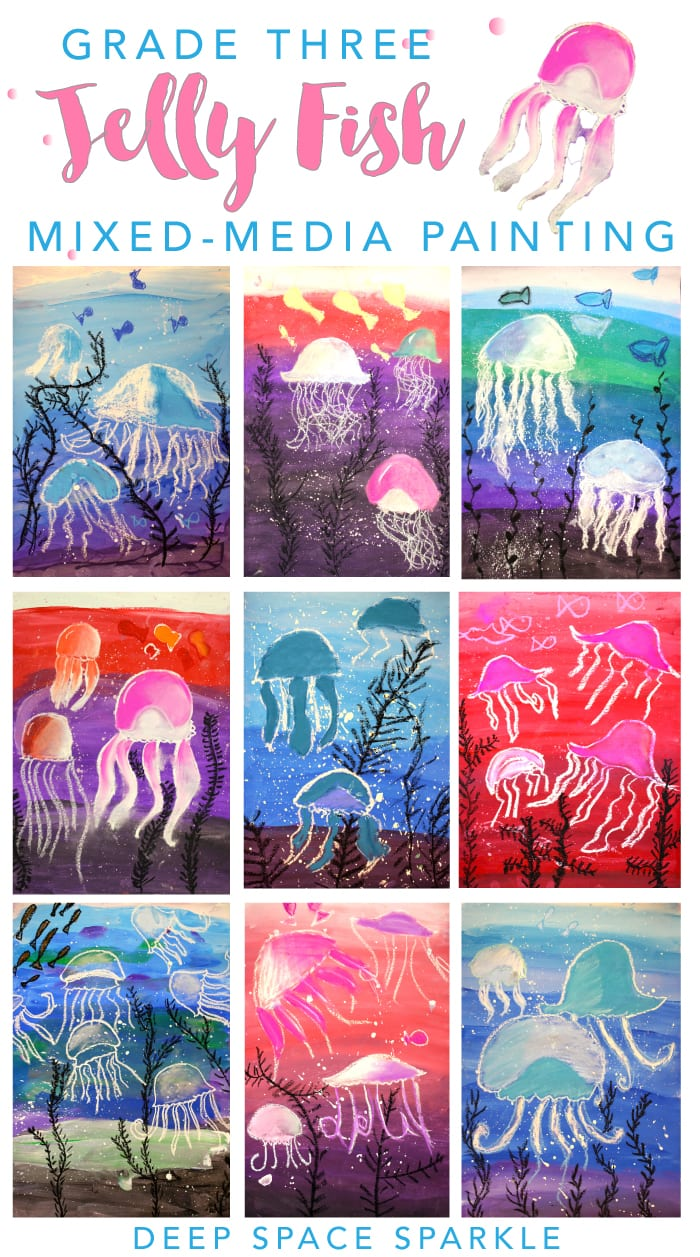 Jelly Fish Art project - Deep Space Sparkle