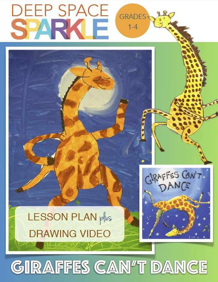 Giraffes Cant Dance Art Lesson Drawing Video Deep Space Sparkle