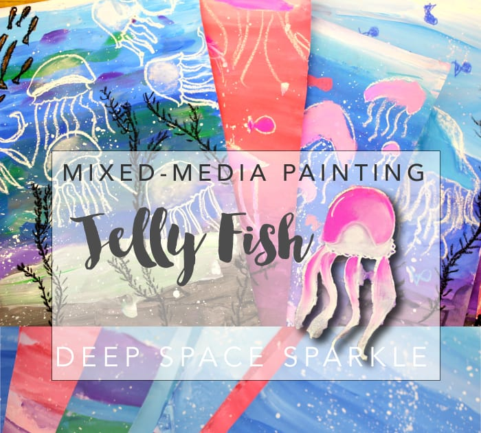 Learn how to draw and paint a pretty under-the-sea jellyfish picture