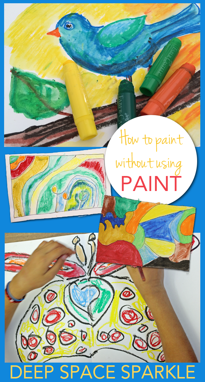 How to use a simple product to paint without paint. So easy to create beautiful paintings without the mess.