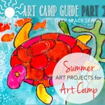 Art supply list and project ideas for your own summer art camp for kids.