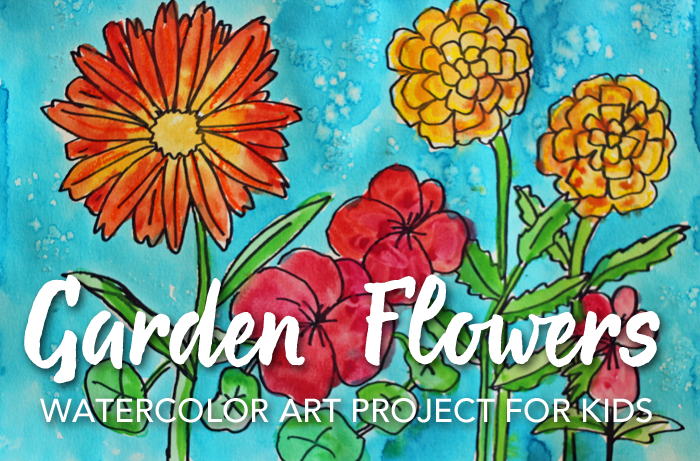How to Draw & Paint Garden Flowers Video
