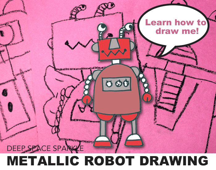 Metallic Robot Drawing & Painting Project