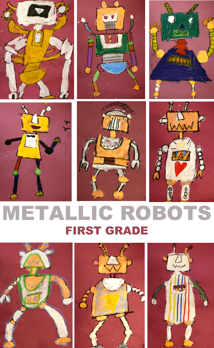 Use this drawing guide to kickstart your next robot art activity. See what my first grade kids created!