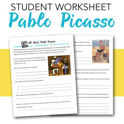 pablo picasso student worksheet deep space sparkle. Black Bedroom Furniture Sets. Home Design Ideas
