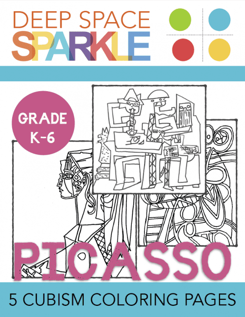 Picasso Cubism Coloring Pages Deep Space Sparkle