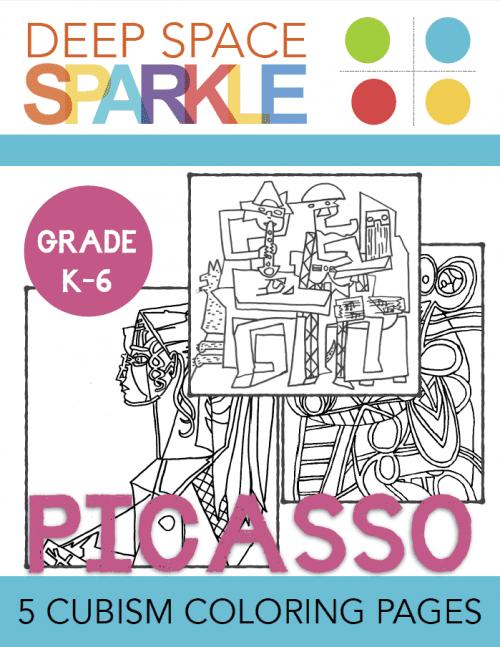 Picasso Cubism Coloring Pages Deep Space Sparkle