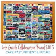 Car-themed Collaborative Ceramic Mural