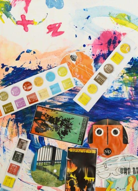 Collage Process Art by Meri Cherry