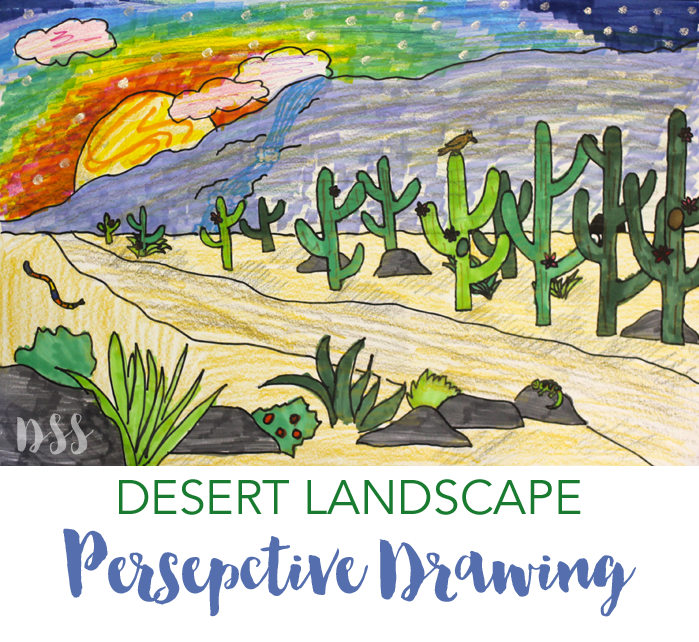 How To Draw A Perspective Landscape Desert
