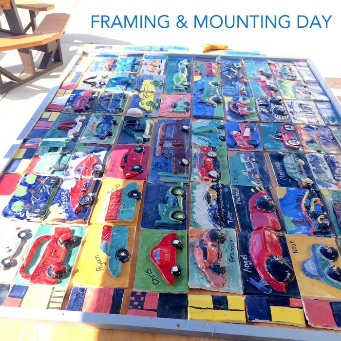 How to make a collaborative clay car mural