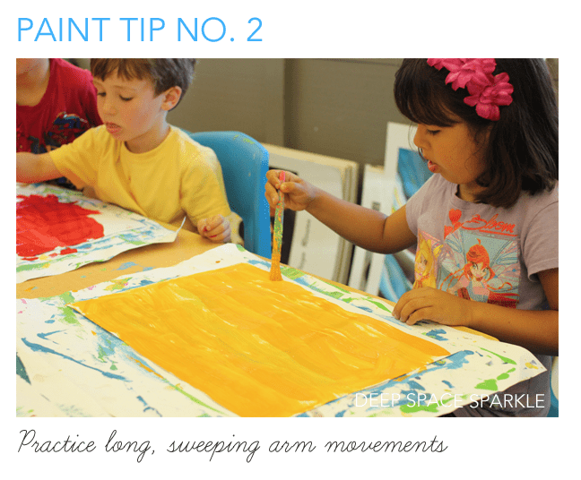 5 Painting Tips for Kids: Paint with big strokes