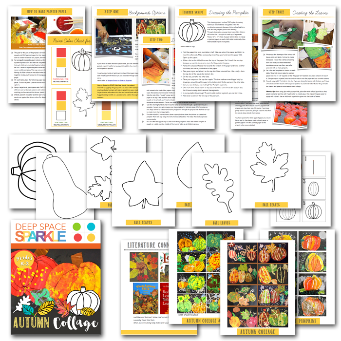 What's Inside the Autumn Collage Art Activity Pack