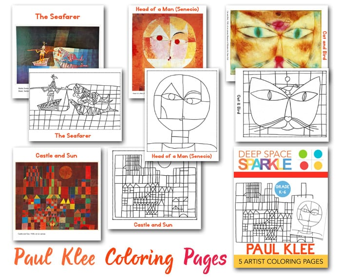Paul Klee Coloring Pages Drawing Guides Deep Space Sparkle