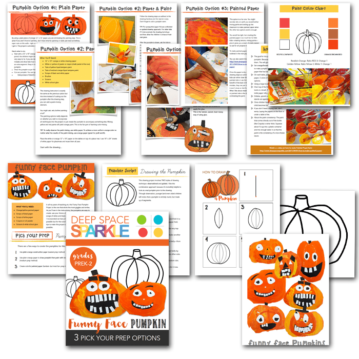 What's inside the Funny Face Pumpkin Craft Pack
