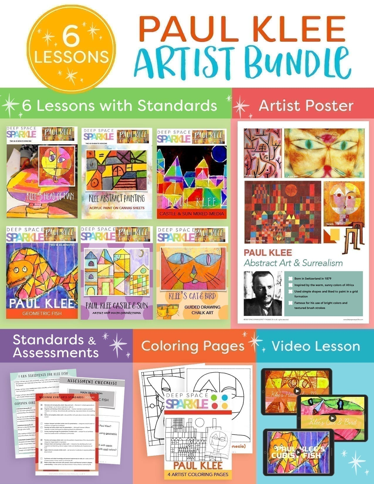 Paul Klee Art Bundle: Teach the Masters to your students with engaging lesson