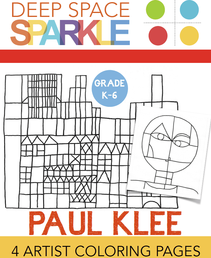 Paul klee coloring pages drawing guides deep space sparkle for Paul klee coloring pages