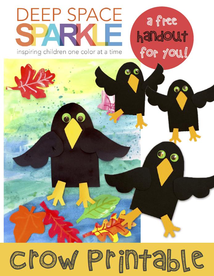 Crow Craft Template - Deep Space Sparkle