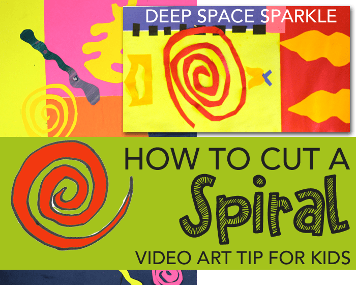 How to cut a spiral. A video tip that shows a fool-proof way to cut spirals for your next collage project.