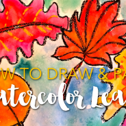 Fall Art Bundle & Watercolor Leaves Video