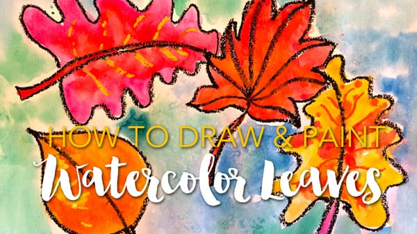 How to Draw & paint Watercolor Leaves