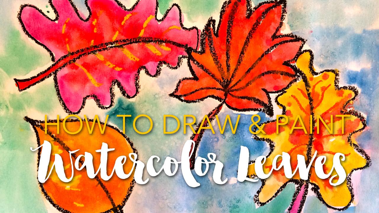 Fall Art Bundle & Watercolor Leaves Video