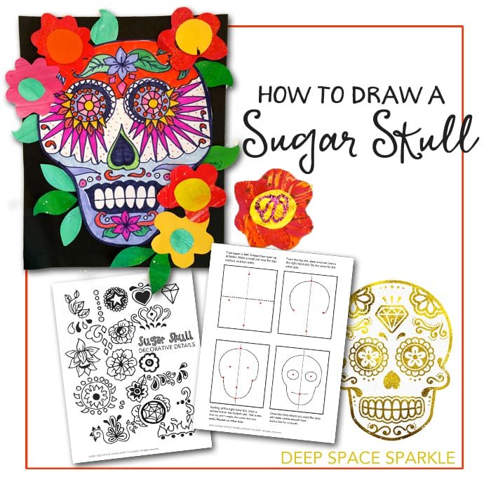 How to draw a sugar skull free handout