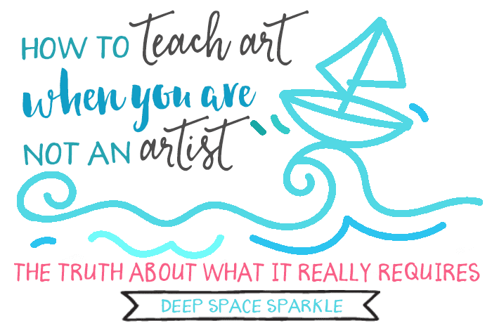 Ho two teach art to kids when you don't consider yourself an artist