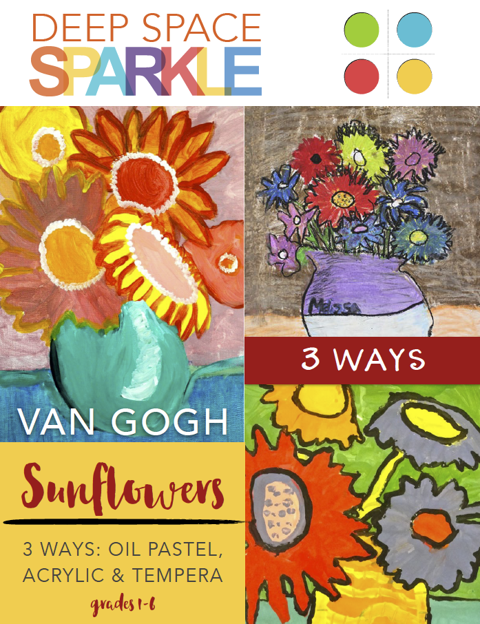 Van Gogh Sunflowers Art Lesson & Video