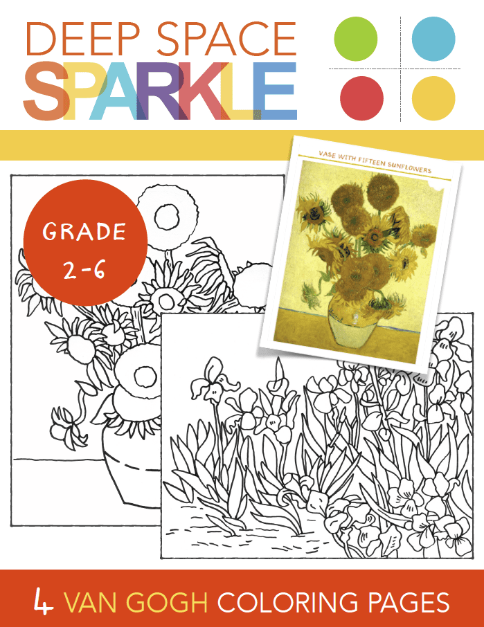 Free Coloring Pages Of Sunflowers Of Van Gogh