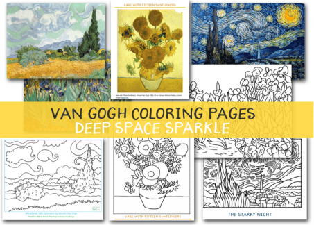 Van gogh sunflowers coloring pages