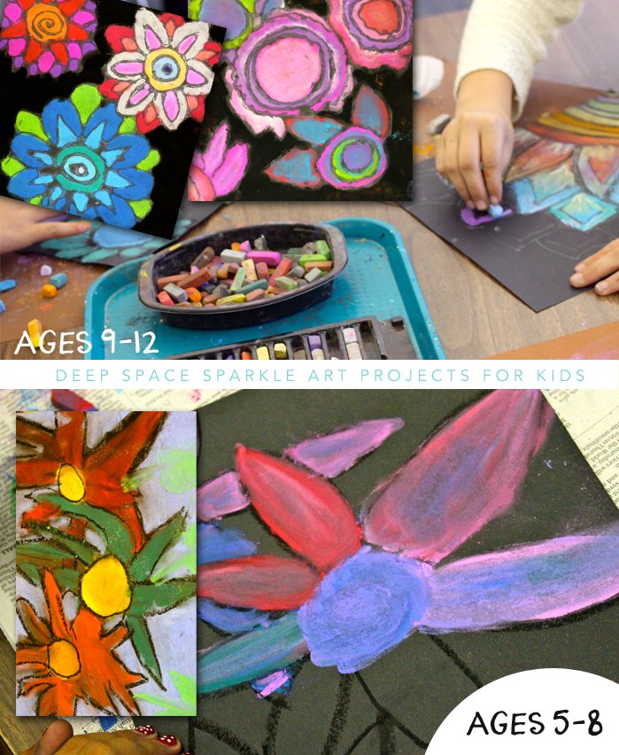 Easy Chalk Flowers Art Project For Kids Age 5 12 Connect With Vincent Van Gogh Unit
