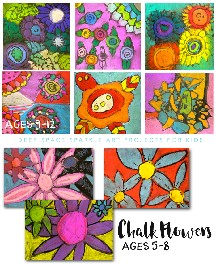 Chalk Flowers Art Project 2 Ways Deep Space Sparkle