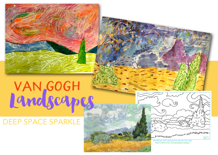 Van Gogh Landscape art project