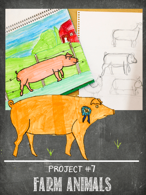 The Sketchbook Project Lesson #7 farm animals