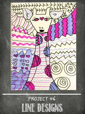 The Sketchbook Project Lesson #6 line art